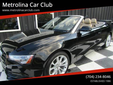2014 Audi A5 for sale at Metrolina Car Club in Matthews NC