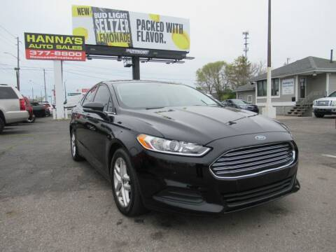 2016 Ford Fusion for sale at Hanna's Auto Sales in Indianapolis IN