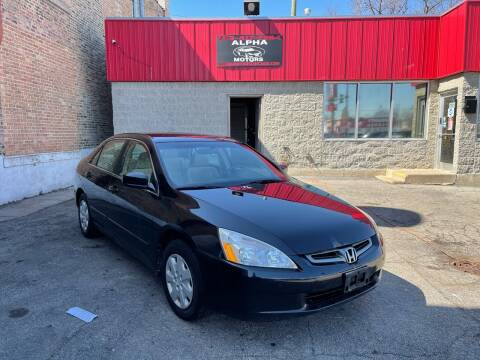 2003 Honda Accord for sale at Alpha Motors in Chicago IL
