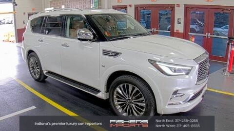 2018 Infiniti QX80 for sale at Fishers Imports in Fishers IN
