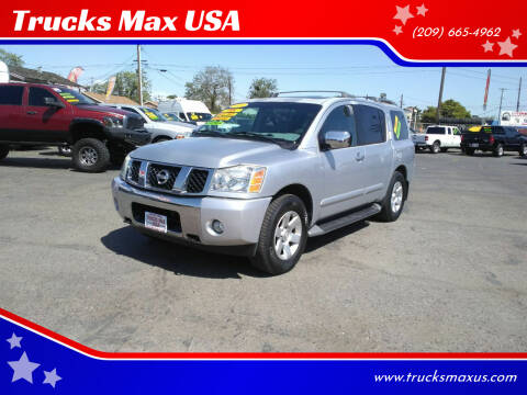 2004 Nissan Armada for sale at Trucks Max USA in Manteca CA