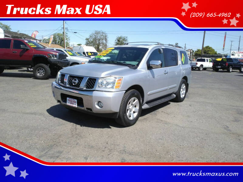 2004 Nissan Armada for sale at Trucks Max USA in Manteca CA