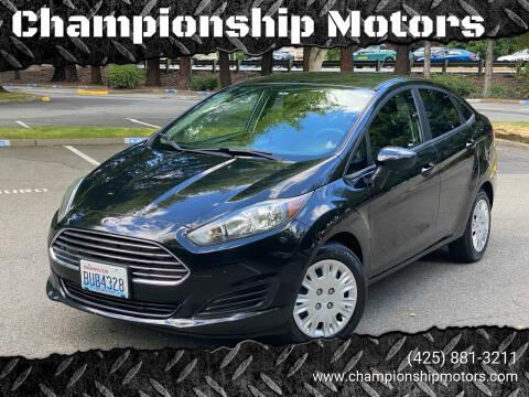 2016 Ford Fiesta for sale at Championship Motors in Redmond WA