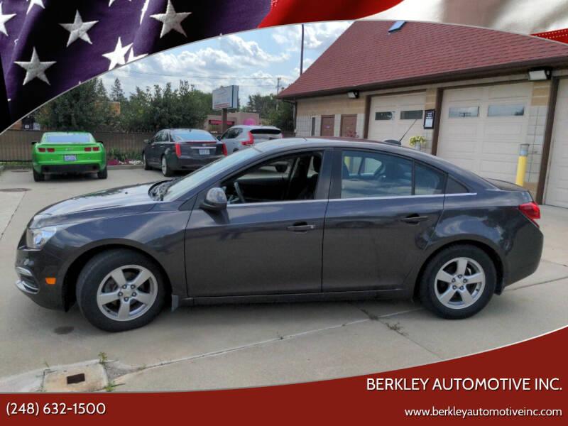 2015 Chevrolet Cruze for sale at Berkley Automotive Inc. in Berkley MI