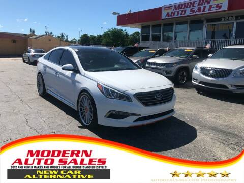 2015 Hyundai Sonata for sale at Modern Auto Sales in Hollywood FL