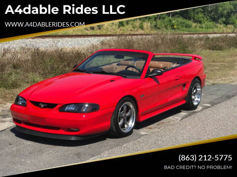 1998 Ford Mustang for sale at A4dable Rides LLC in Haines City FL