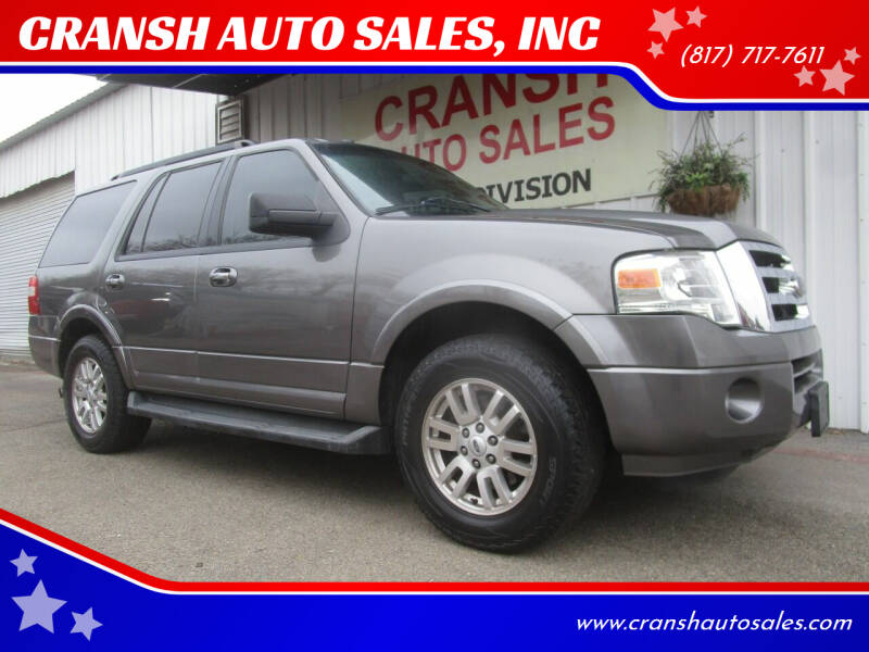 2014 Ford Expedition for sale at CRANSH AUTO SALES, INC in Arlington TX