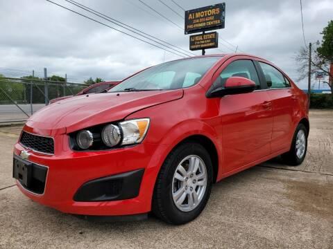 2012 Chevrolet Sonic for sale at AI MOTORS LLC in Killeen TX