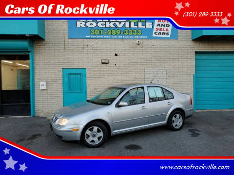 2002 Volkswagen Jetta for sale at Cars Of Rockville in Rockville MD