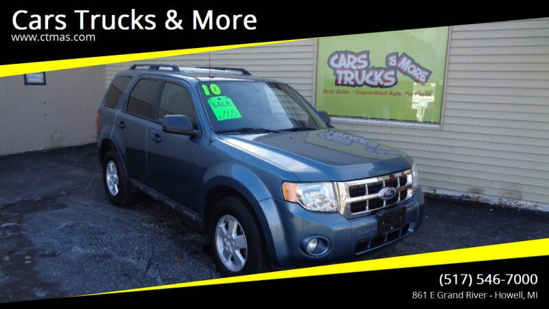 2010 Ford Escape for sale at Cars Trucks & More in Howell MI
