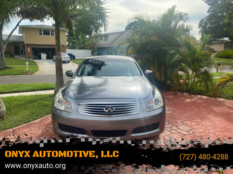 2010 Infiniti G37 Sedan for sale at ONYX AUTOMOTIVE, LLC in Largo FL