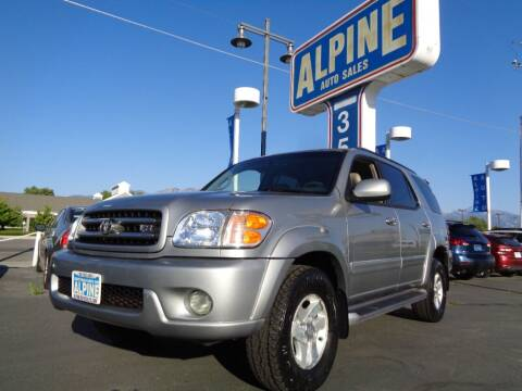 2002 Toyota Sequoia for sale at Alpine Auto Sales in Salt Lake City UT