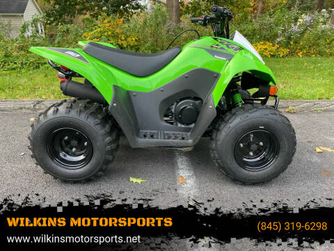 2021 Kawasaki Kfx90 for sale at WILKINS MOTORSPORTS in Brewster NY
