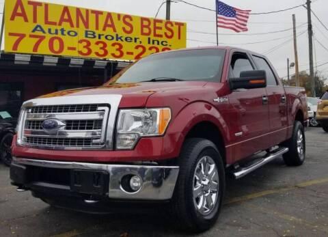 2013 Ford F-150 for sale at Atlanta's Best Auto Brokers in Marietta GA
