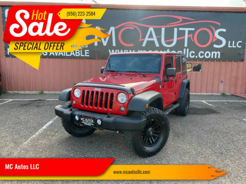 2014 Jeep Wrangler Unlimited for sale at MC Autos LLC in Pharr TX