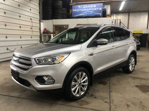 2017 Ford Escape for sale at T James Motorsports in Gibsonia PA
