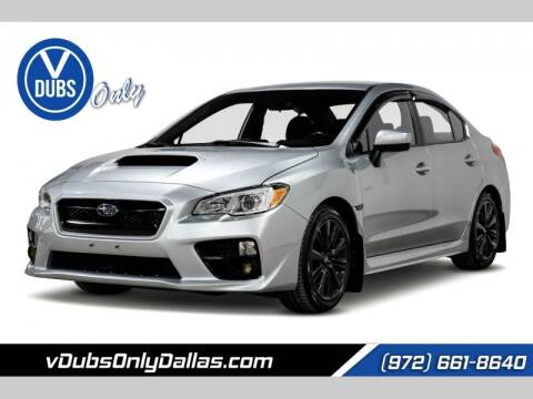 2017 Subaru WRX for sale at VDUBS ONLY in Dallas TX