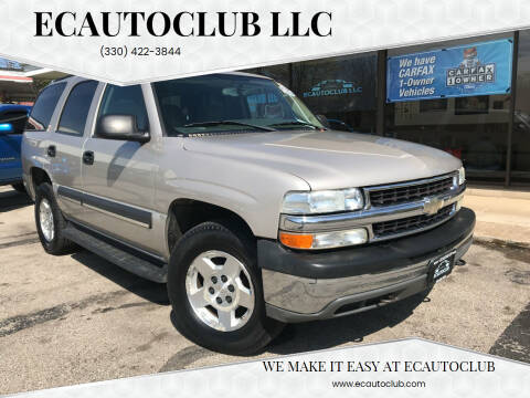 2004 Chevrolet Tahoe for sale at ECAUTOCLUB LLC in Kent OH