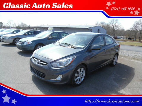 2012 Hyundai Accent for sale at Classic Auto Sales in Maiden NC