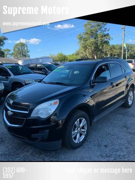 2012 Chevrolet Equinox for sale at Supreme Motors in Tavares FL