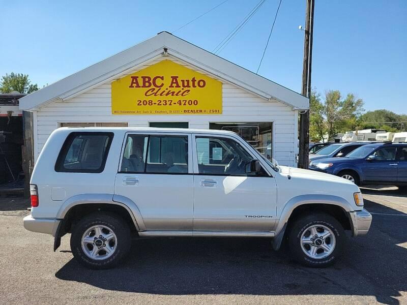 2001 Isuzu Trooper for sale at ABC AUTO CLINIC in Chubbuck ID