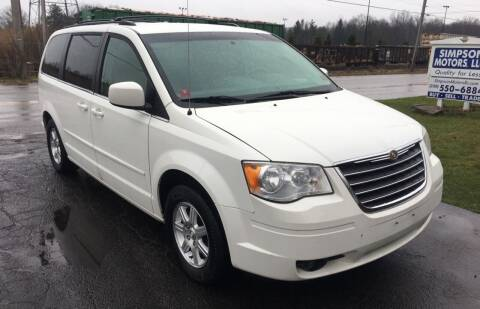 2008 Chrysler Town and Country for sale at SIMPSON MOTORS in Youngstown OH