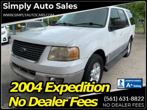 2004 Ford Expedition for sale at Simply Auto Sales in Palm Beach Gardens FL