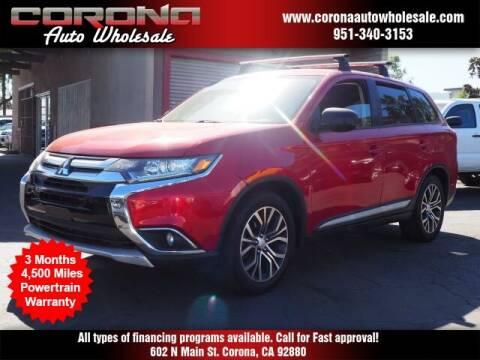 2016 Mitsubishi Outlander for sale at Corona Auto Wholesale in Corona CA