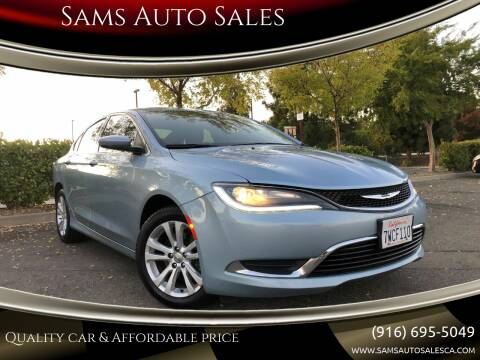 2015 Chrysler 200 for sale at Sams Auto Sales in North Highlands CA