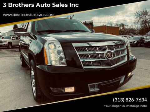2013 Cadillac Escalade ESV for sale at 3 Brothers Auto Sales Inc in Detroit MI