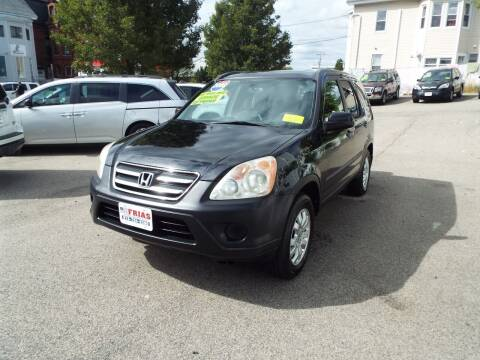 2006 Honda CR-V for sale at FRIAS AUTO SALES LLC in Lawrence MA