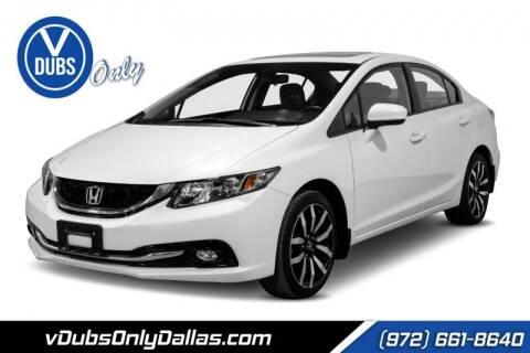 2015 Honda Civic for sale at VDUBS ONLY in Dallas TX