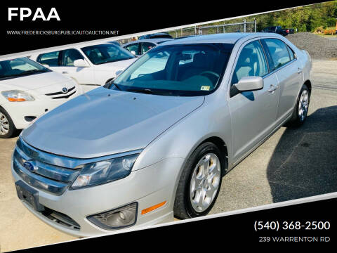 2010 Ford Fusion for sale at FPAA in Fredericksburg VA