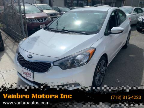 2014 Kia Forte for sale at Vanbro Motors Inc in Staten Island NY