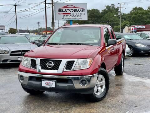 2009 Nissan Frontier for sale at Supreme Auto Sales in Chesapeake VA