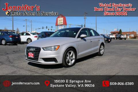 2015 Audi A3 for sale at Jennifer's Auto Sales in Spokane Valley WA