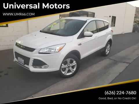 2013 Ford Escape for sale at Universal Motors in Glendora CA