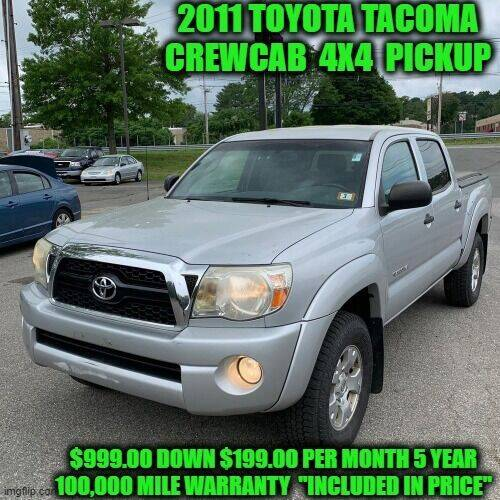 2011 Toyota Tacoma for sale at D&D Auto Sales, LLC in Rowley MA