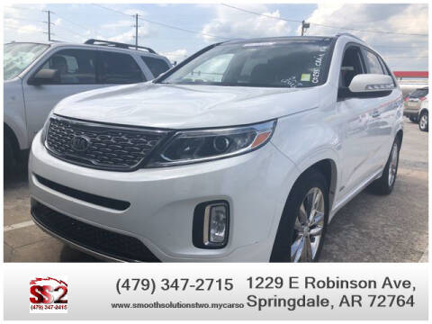 2014 Kia Sorento for sale at Smooth Solutions 2 LLC in Springdale AR