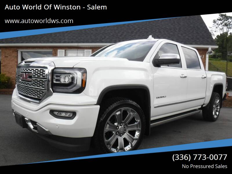 2017 GMC Sierra 1500 for sale at Auto World Of Winston - Salem in Winston Salem NC