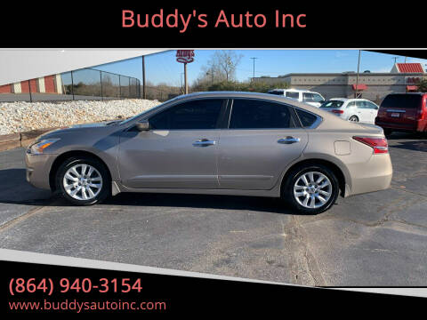 2015 Nissan Altima for sale at Buddy's Auto Inc in Pendleton, SC