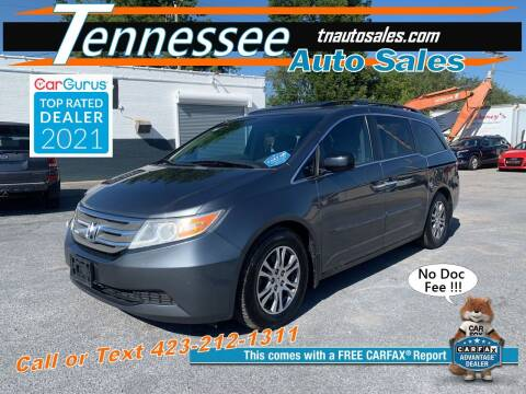 2012 Honda Odyssey for sale at Tennessee Auto Sales in Elizabethton TN