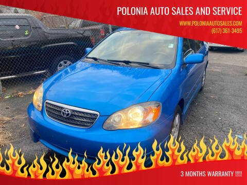 2007 Toyota Corolla for sale at Polonia Auto Sales and Service in Hyde Park MA