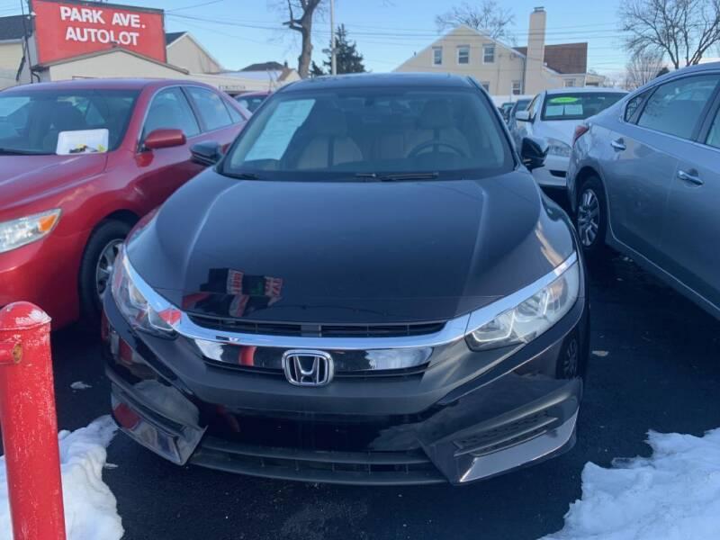 2016 Honda Civic for sale at Park Avenue Auto Lot Inc in Linden NJ