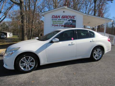 2012 Infiniti G37 Sedan for sale at Oak Grove Auto Sales in Kings Mountain NC