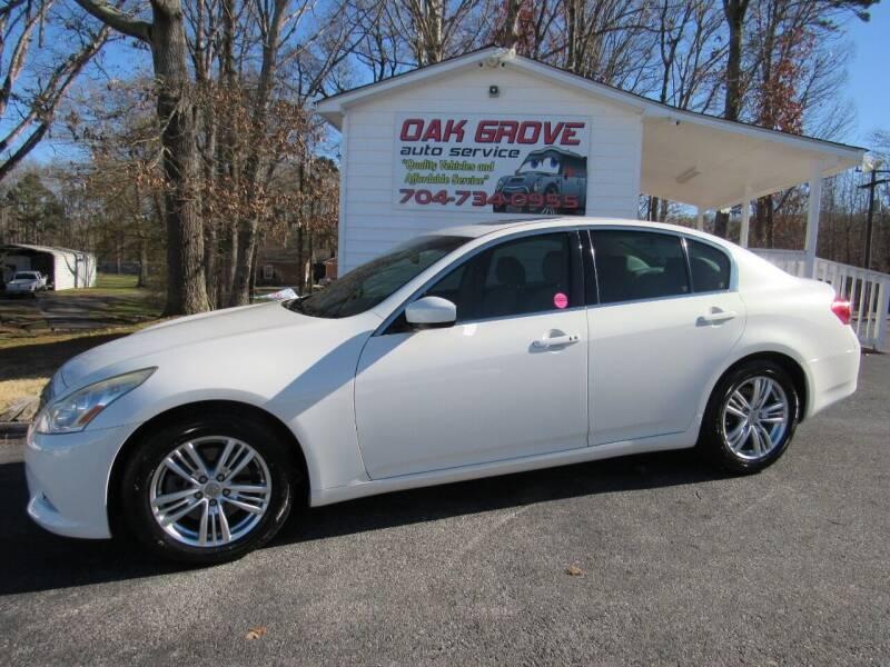 2012 Infiniti G37 Sedan for sale at Oak Grove Auto Sales in Kings Mountain NC