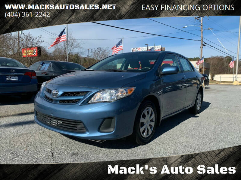 2013 Toyota Corolla for sale at Mack's Auto Sales in Forest Park GA