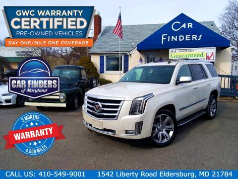 2015 Cadillac Escalade for sale at CAR FINDERS OF MARYLAND LLC - Certified Cars in Eldersburg MD