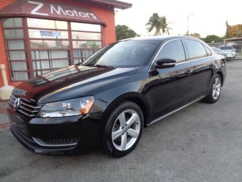 2013 Volkswagen Passat for sale at Z MOTORS INC in Hollywood FL