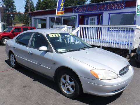 2000 Ford Taurus for sale at 777 Auto Sales and Service in Tacoma WA
